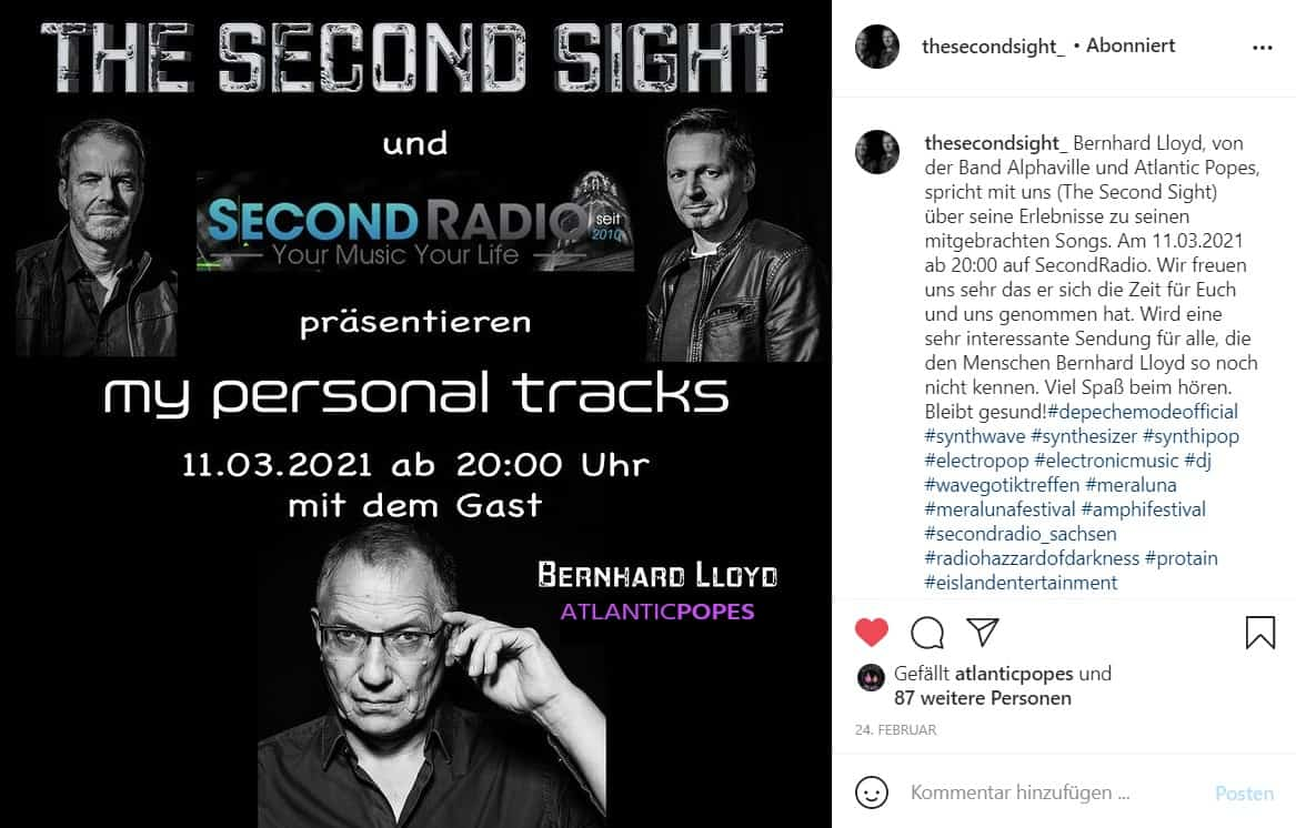 Interview Second Sight with Bernhard Lloyd